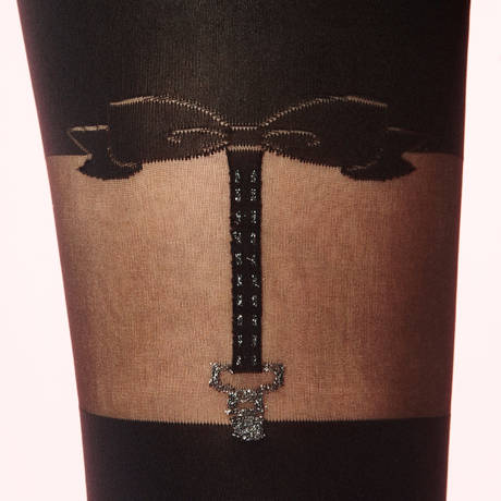 Collant So Dandy Les Bas et Collants Noir/Argent