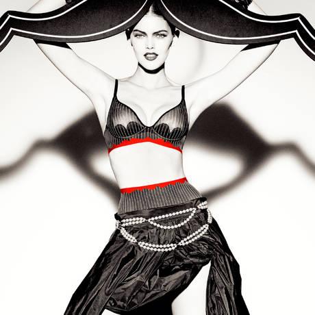 Culotte haute Passion'Elle Noir/Rouge