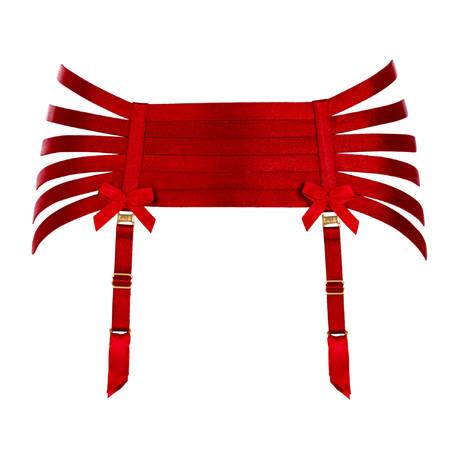 Porte-jarretelles Webbed Signature Rouge