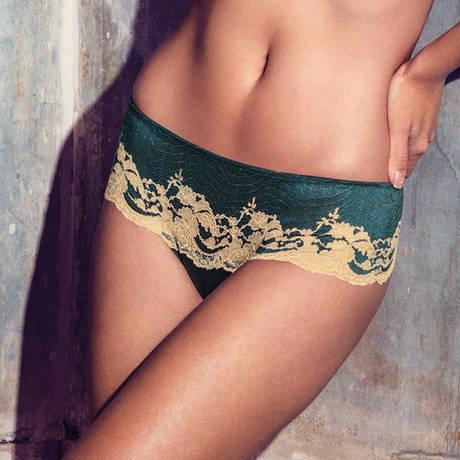 Tanga Lace Affair Vert/Or