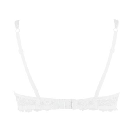 Soutien-gorge corbeille coutures verticales Cristal d'Art Blanc
