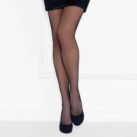 Collant Résille Couture Noir