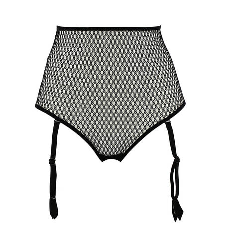 String luxueux porte-jarretelles Wasabi Noir