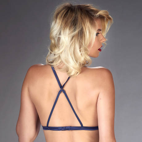 Soutien-gorge triangle Vertige d'Amour Noir/Bleu Nuit