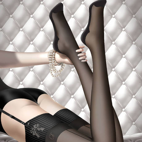 Bas couture 15D Les Bas et Collants Noir