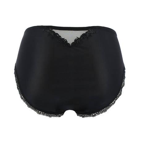Culotte haute Ajourage Pétales Noir