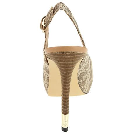Escarpins ouverts à talons 11 cm Hobbyn Beige
