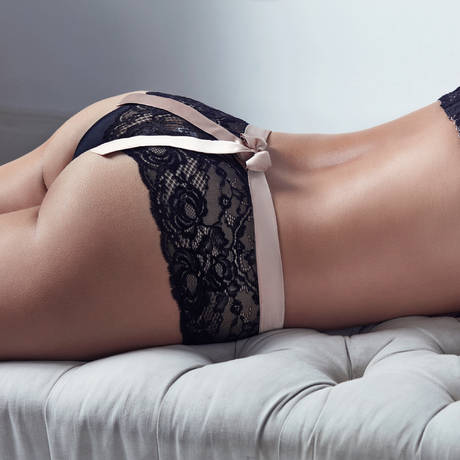 String luxueux By Night Noir/Crème