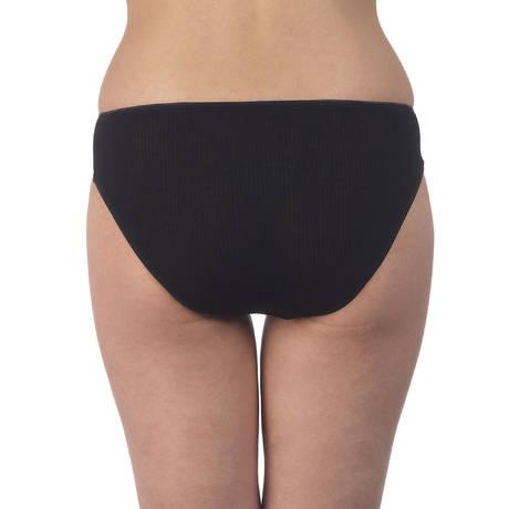 Culotte côtelée coton fil d'écosse Noir