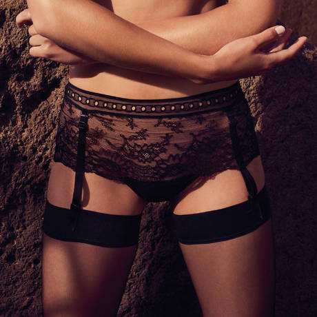 Culotte porte-jarretelles Jewell Noir