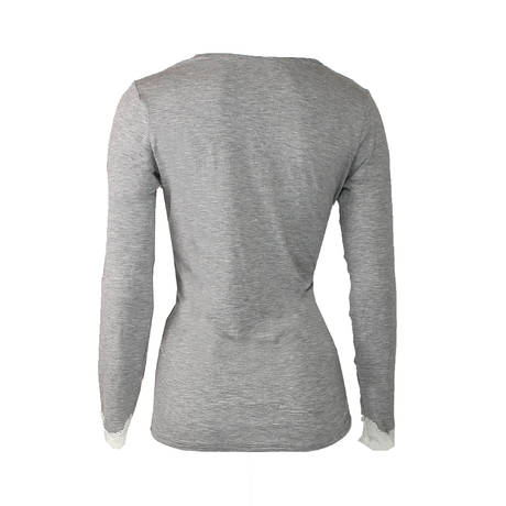 Tee-shirt manches longues Simply Perfect Chiné Gris