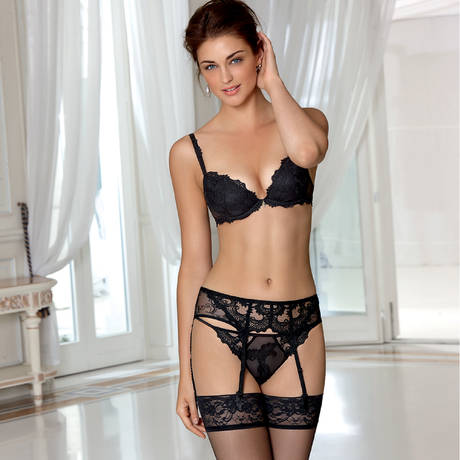 String sexy Dressing Floral Noir