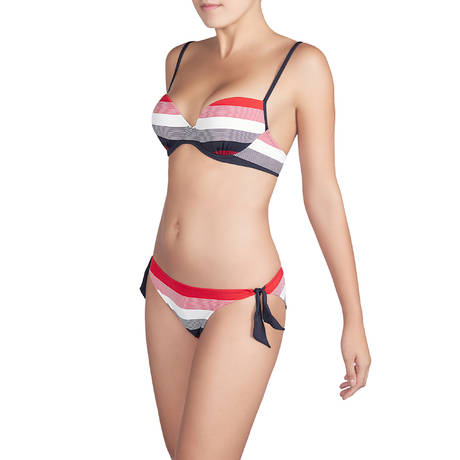 Maillot de bain slip ficelle taille basse Sonia Rouge