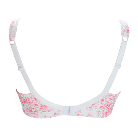 Soutien-gorge coques grande taille Full Emotion Blanc/Rose
