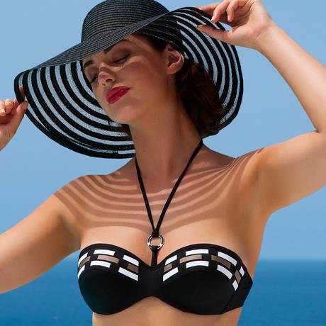 Maillot de bain brassière coques Transat Fashion Noir