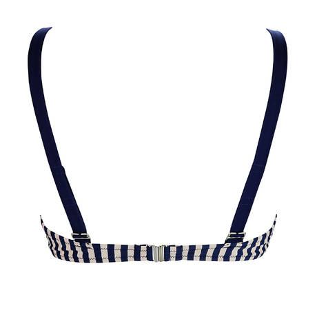 Maillot de bain triangle armatures La Vogueuse Bleu Marine/Taupe