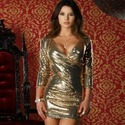 Forplay Robe courte � sequins
