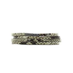 Bracelet cuir multirangs Pilgrim