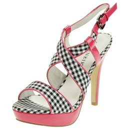 Sandales � talons 12 cm Caf�Noir