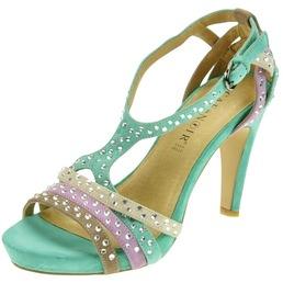 Sandales � talons Caf�Noir