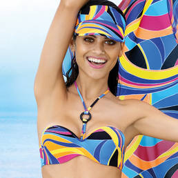 Maillot de bain bandeau coques Antigel La Sporty Tropique