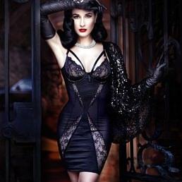 Robe Dita Von Teese Madame X Noir