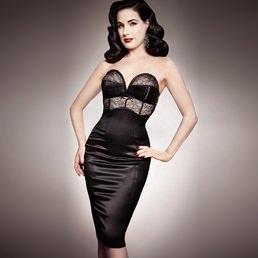 Robe Dita Von Teese Her Sexellency Noir