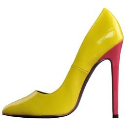 Escarpins vernis tricolores � talons Highest Heel Collection Hottie Tricolore