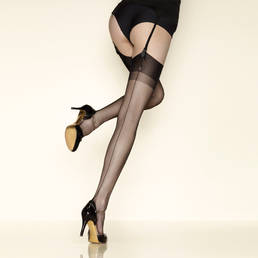 Bas nylon couture 10 deniers Gerbe Carnation