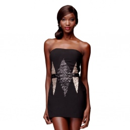 Robe House of Dereon by Beyoncé Mini Bustier