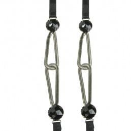 Bretelles de soutien-gorge noires à chaînes Magic Bodyfashion