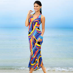 Robe de plage longue Antigel La Sporty Tropique