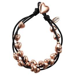 Bracelet multirangs cordon et coeur Pilgrim