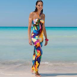 Robe de plage longue Antigel La Mille Pétales