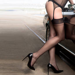 Bas nylon rétro Maison Close Les Coquetteries