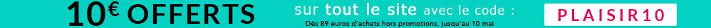 10 euros offerts sur tout le site