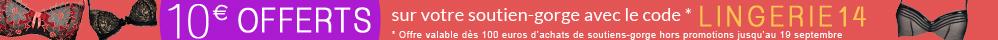 10 euros offerts sur les soutiens-gorge