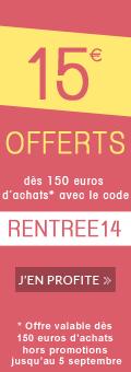 15 euros offerts pour la rentr�e